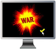 Declaration of Digital War Stock Image