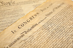 Declaration of independence Stock Photo
