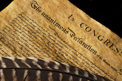 Declaration of Independence. The Declaration of Independence of the United States of America Royalty Free Stock Image