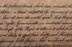 Declaration of Independence Stock Photography