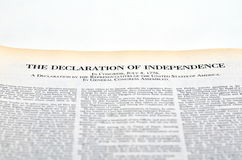 The Declaration of Independence Royalty Free Stock Image