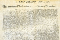 Declaration of independence 4th july 1776 close up Stock Image
