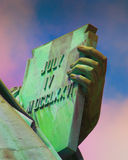 Declaration of Independence of the United States. Close up of the Statue of Liberty Stock Photo