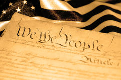 Declaration of Independence. United States Declaration of Independence, sepia tone, SOFT FOCUS Royalty Free Stock Photography