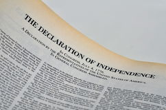 The Declaration of Independence Stock Photos