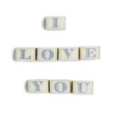Declaration of love Stock Image