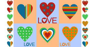 Declaration of love. Image unusual hearts with a Declaration of love Stock Illustration