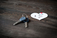 Declaration of love and keys Stock Image