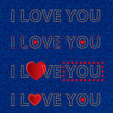 Declaration of love lettering Royalty Free Stock Image