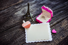 Declaration of love, the rose with a ring Stock Images