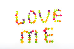 Declaration of love of sweets for Valentine`s Day. Stock Photo