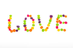 Declaration of love of sweets for Valentine`s Day Stock Photos