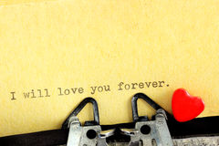 Declaration of love for Valentine's Day Royalty Free Stock Photo