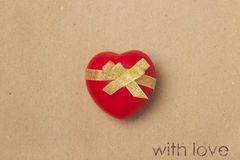 Declaration of love. On vintage background Royalty Free Stock Image