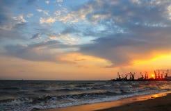 Declinación en el mar fotos de archivo