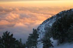Declinación en montañas Imagen de archivo libre de regalías