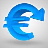 Declinación euro Fotografía de archivo libre de regalías
