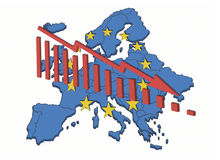 Declinación europea Stock de ilustración
