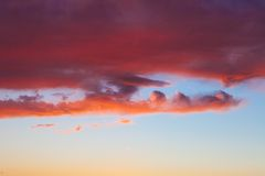 Decline. Fire in the sky.Decline royalty free stock image