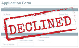 Decline Declined Reject Rejection Refusal Concept Royalty Free Stock Photos
