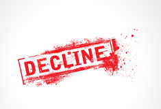 Decline grunge text. With halftone royalty free illustration