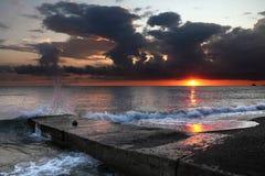 Decline landscape on the sea Stock Photo