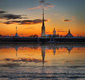 Decline over the Peter and Paul Fortress Stock Photography