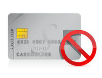 Declined Credit Card illustration Royalty Free Stock Photography