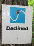 Declined Directional Sign Royalty Free Stock Photo