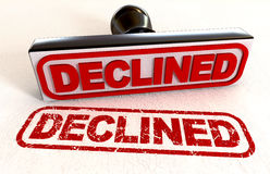 Declined Rubber Stamp Stock Photography