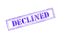 `DECLINED ` rubber stamp over a white background Royalty Free Stock Photo
