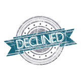 Declined stamp. Declined grunge rubber stamp on white Royalty Free Stock Photo