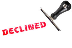 Declined stamp text Royalty Free Stock Photography