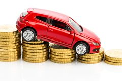 Declining profits in the car trade Royalty Free Stock Photography