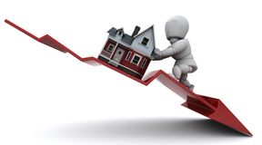Declining Property Prices Royalty Free Stock Photos