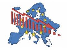 Declino europeo Fotografia Stock Libera da Diritti