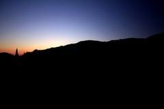 Declino in montagne il contorno isolato Immagini Stock