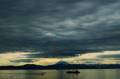 Declino nuvoloso Fotografia Stock