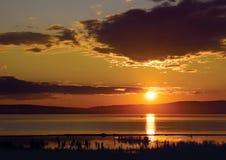 Declino sul lago Arahlej Fotografia Stock Libera da Diritti
