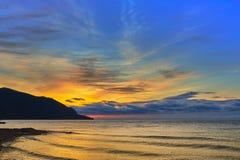 Declino sul lago Baikal, Fotografia Stock