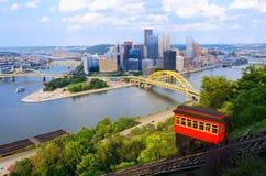 Declive de Pittsburgh Imagens de Stock Royalty Free