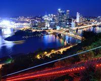Declive de Pittsburgh Fotos de Stock