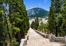 The decent on the Calvari Steps in Pollenca Royalty Free Stock Images