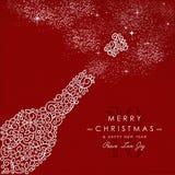 Deco μπουκαλιών περιλήψεων καλής χρονιάς Χαρούμενα Χριστούγεννας Στοκ Φωτογραφίες