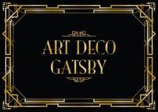 Deco τέχνης gatsby Στοκ Εικόνα