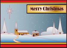deco рождества карточки искусства Бесплатная Иллюстрация