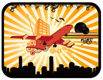 Deco airplane vector  Royalty Free Stock Photography