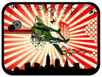 Deco airplane vector vector illustration