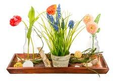 Deco aislado de la flor artificial Imagenes de archivo