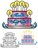 Deco Birthday Cake Royalty Free Stock Image